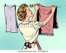 stock-vector-woman-hangs-clothes-after-washing-housewife-housework-comfort-retro-style-pop-art-314566544